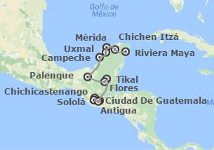Guatemala y México: Altiplano, Tikal, Chiapas y Yucatán