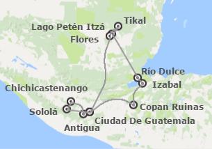 Guatemala y Honduras: Guatemala con Izabal y Copán