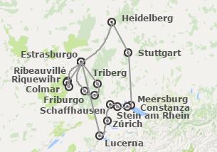Centro y Sur de Europa: Francia, Suiza e Italia