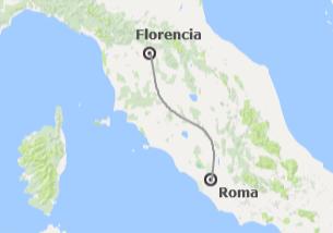 Italia: Roma y Florencia en tren