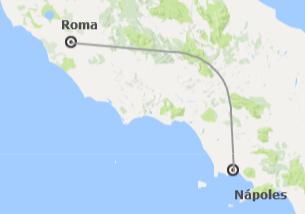 Italia: Roma y Nápoles en tren