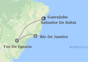 Brasil: Colores de Brasil con extensión a Praia do Guarajuba