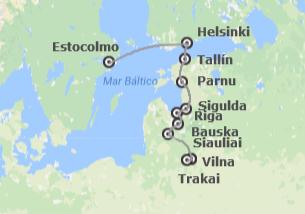 Norte de Europa: Estocolmo, Helsinki, Tallin, Riga y Vilnus