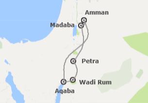 Jordania: Ammán y Petra con Castillo de Kerak