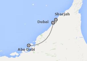 Emiratos Árabes: Dubái, Sharjah , Abu Dhabi y Costa Este de Emiratos Árabes