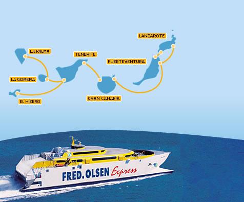 Ferries fred olsen - Transporte entre islas canarias ...