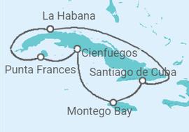 Itinerario del Crucero Descubriendo Cuba y Jamaica - Cuba Cruises