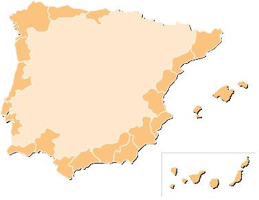 Costas de España y Portugal