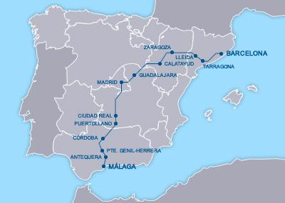 AVE Barcelona Málaga