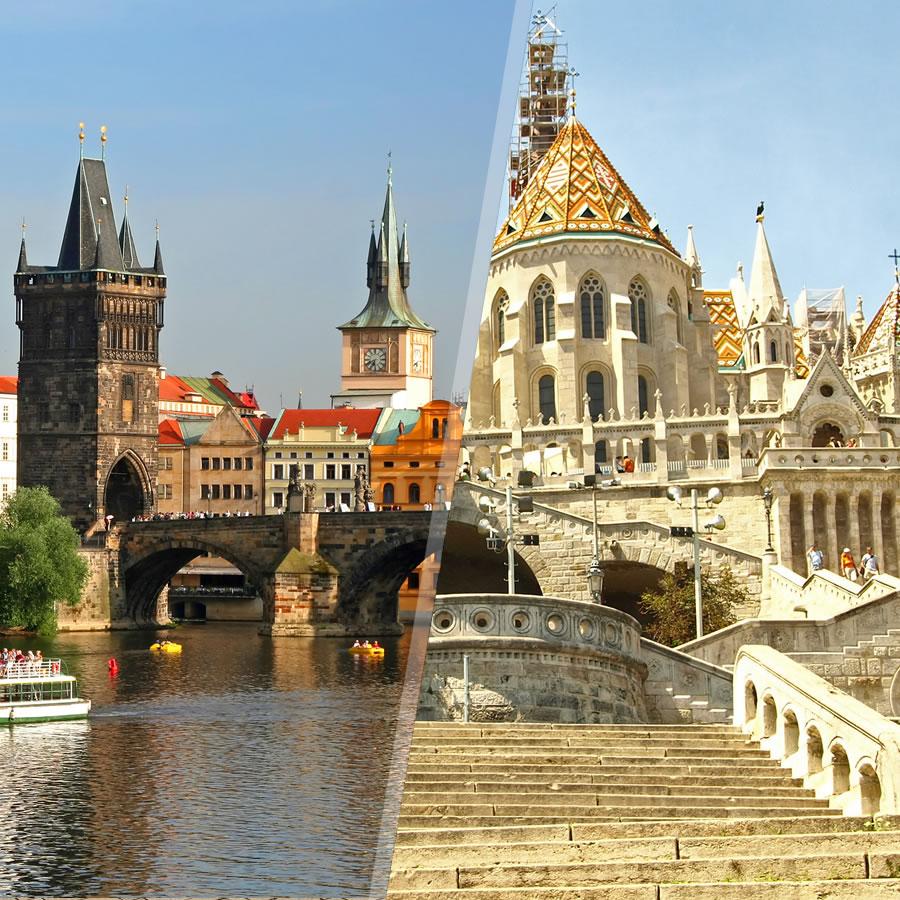Praga y Budapest en avión