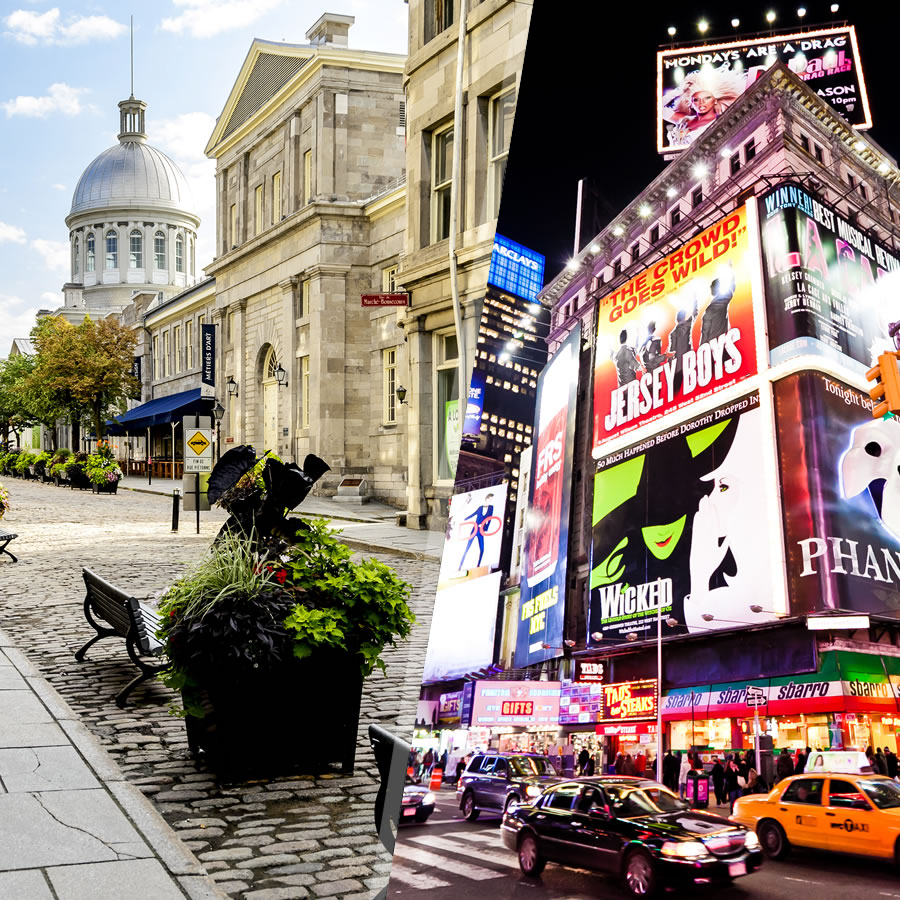 Resultado de imagen para new york montreal turismo collage