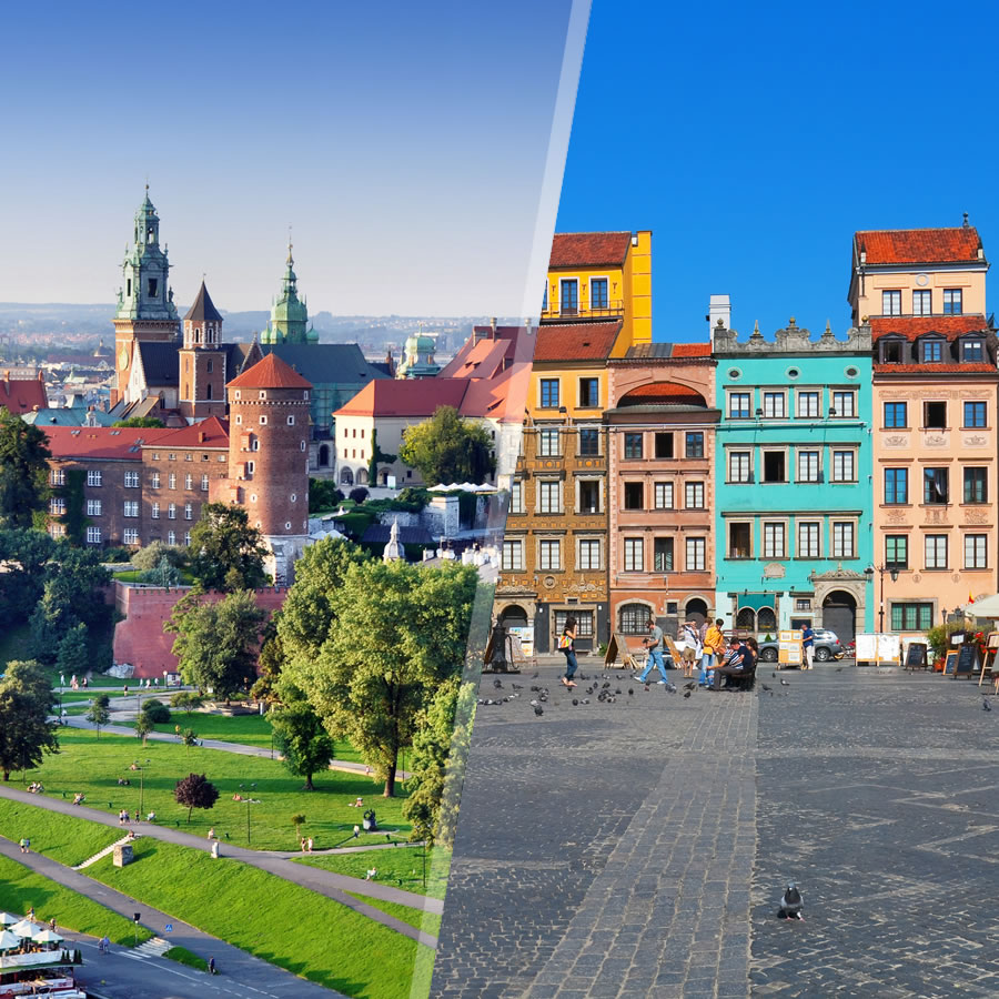 Cracovia y Varsovia