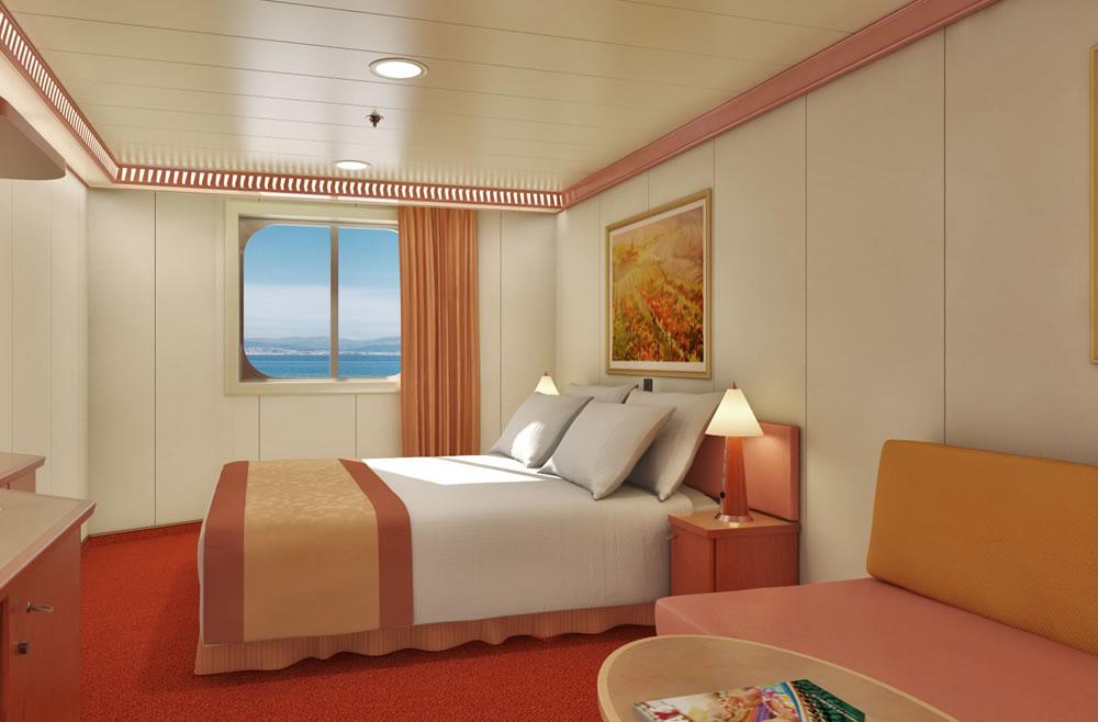 Cubierta main 2 del barco carnival valor carnival cruise for Exterior vista obstruida