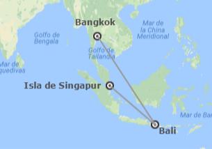 Tailandia, Indonesia y Singapur