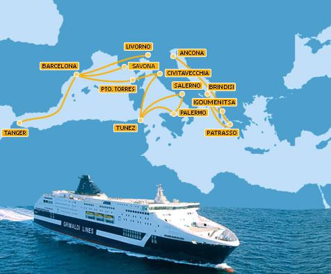 Resultado de imagen de Travesía Barcelona – Cerdeña (Porto Torres). Barco: Grimaldi Lines