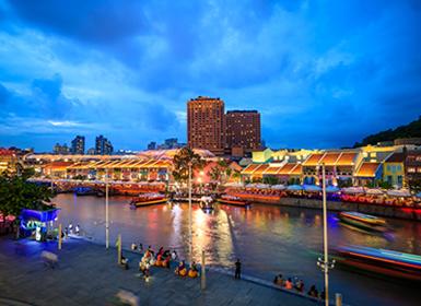 Río Singapur y la zona de los Quays