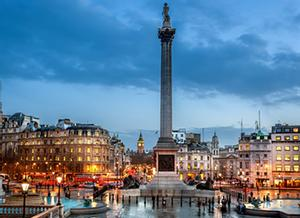 Londres, Inglaterra. Plaza de Trafalgar