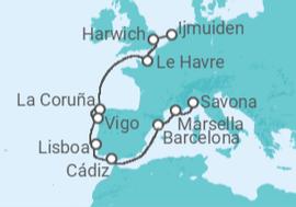 costa mediterranea itinerario