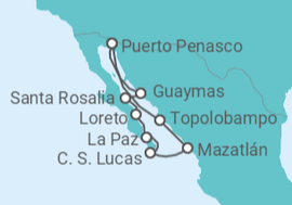Itinerario del Crucero México - Cruise and Maritime