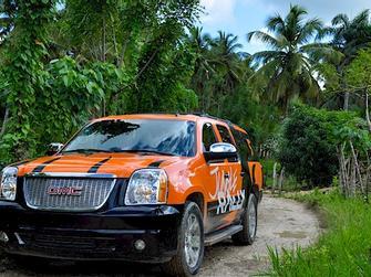 Jungle Rally, almuerzo tour de plantaciones y transporte desde Punta Cana