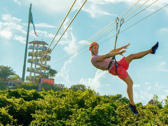 Tour de aventura en el parque Xplore con transporte desde Riviera maya