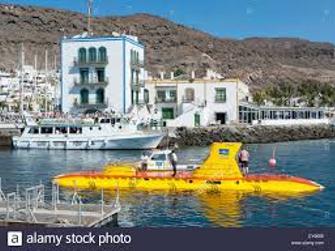 Yellow submarine con transporte